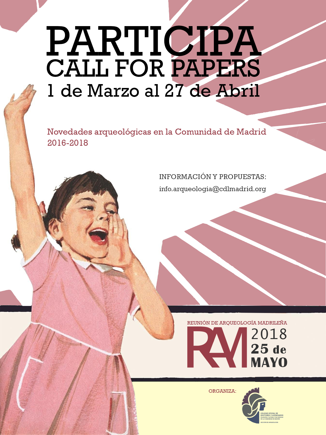 Reunión de Arqueología Madrileña 2018 – Call for papers