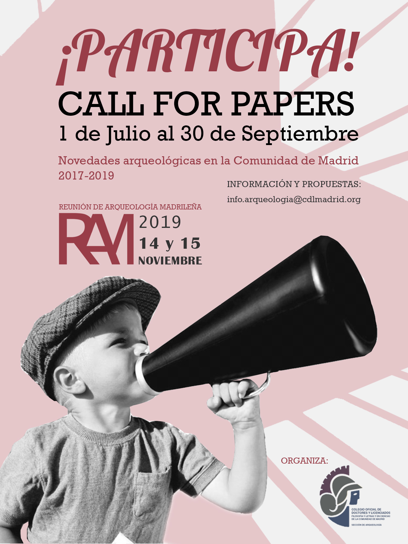 Reunión de Arqueología Madrileña 2019 – Call for papers –