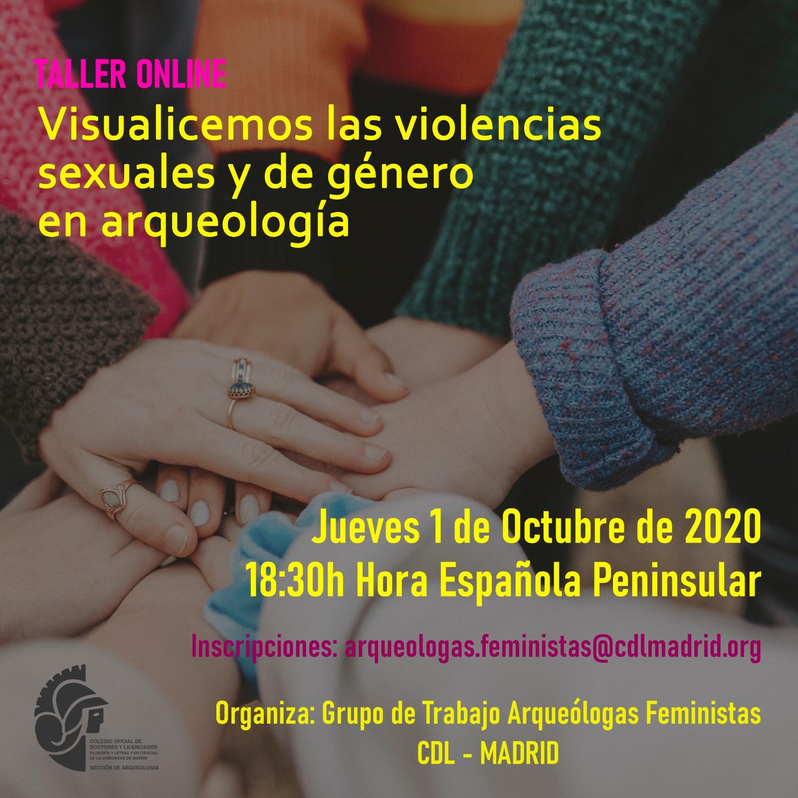 Taller online: Visualicemos las violencias sexuales y de género en arqueología
