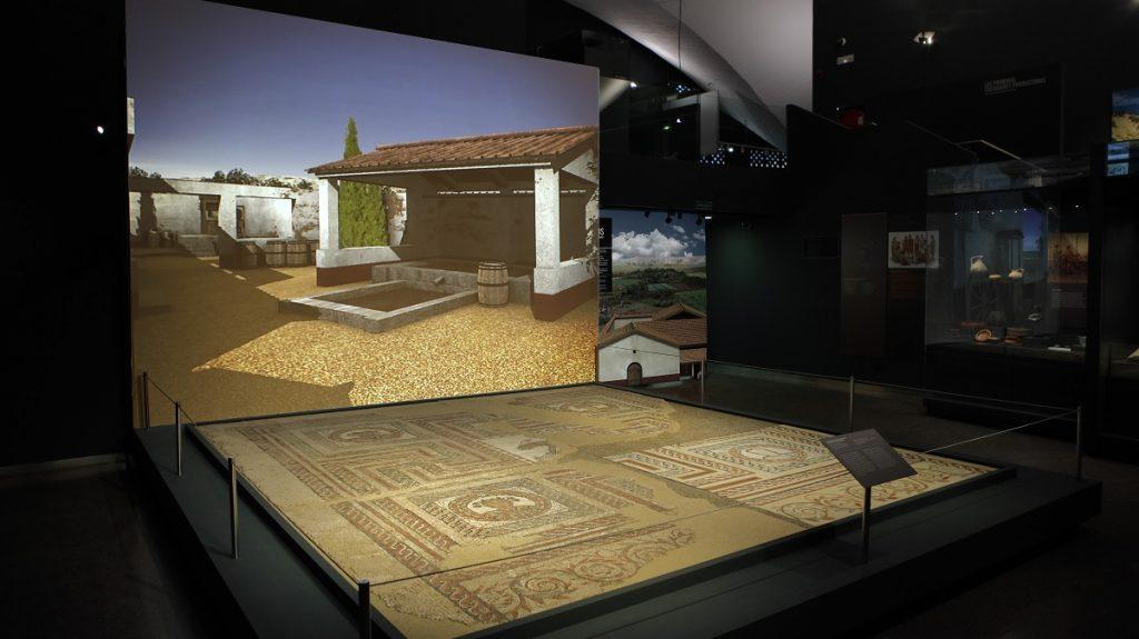 Mosaico del yacimiento romano de Carabanchel